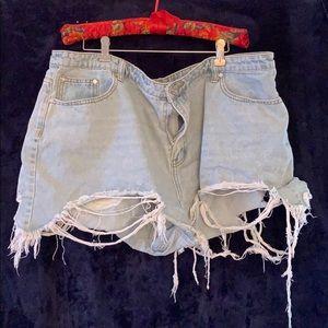 Missguided Distressed Denim Shorts